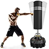 Dprodo Freestanding Punching Bag 70'' - 182lb Heavy Boxing Bag with Suction Cup Base for Adult Youth - Men Stand Kickboxing Bag for Home Office
