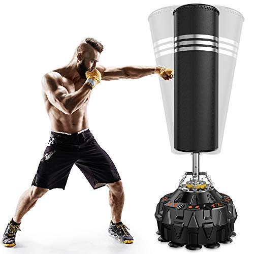 Dprodo Freestanding Punching Bag 70'' - 182lb Heavy Boxing Bag with Suction Cup Base for Adult...