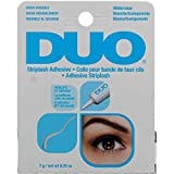 DUO Strip Lash Adhesive White/Clear, for strip false eyelash, 0.25 oz (2 Pack) (Bundle)