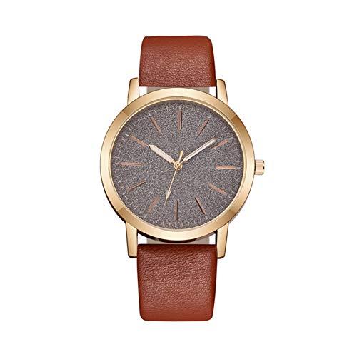 YQCH Reloj de la Moda de Las Mujeres del Cuarzo de Cuero Reloj de Moda para Mujer Reloj de Pulsera de Lujo Reloj de Pulsera de Lujo Casual Femenino Muñeca Ultra-Delgada Reloj de Pulsera Regalos