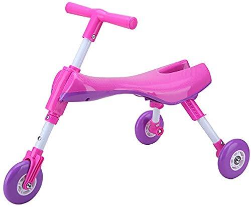 Bck Niño Scooter triciclo cubierta y uso al aire libre Niños Trike, ensanchado y espesado de la PU de ruedas plegable mosca niño for bicicleta Triciclo Scooter, 66-77cm longitud 55 cm Ancho 27