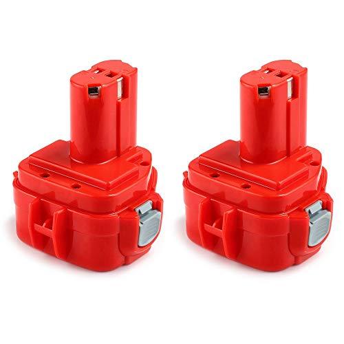 [2 piezas] Dosctt 12V 3000mAh Ni-MH Batería de Reemplazo Para Makita PA12 1220 1222 192598-2 192681-5 193981-6 638347-8 638347-8-2