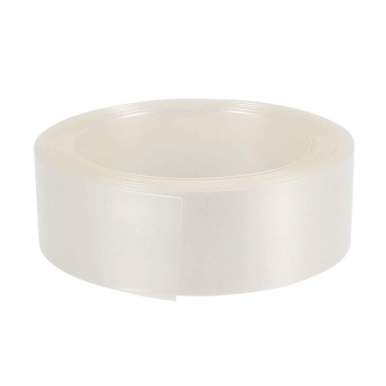 紀元前予知簡潔なuxcell PVC熱収縮チューブ 23 mmフラット幅 AA 5 M用 クリア