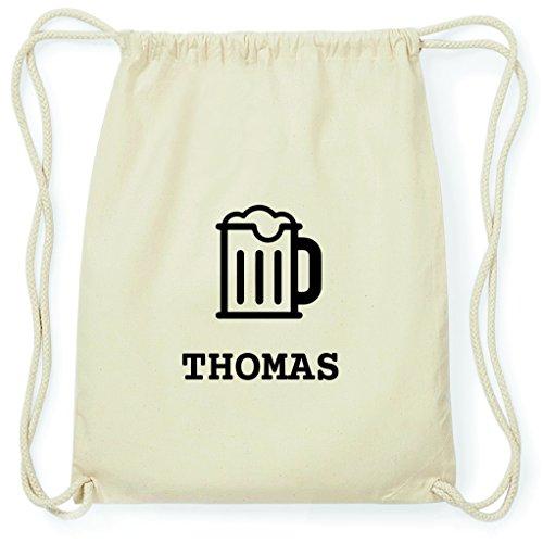 JOllify Turnbeutel - Happy Birthday - für Thomas - Bier Gruß