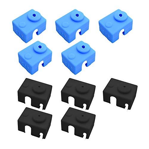 10*PCS Calcetines Para Impresoras 3D Cubierta de Silicona Para Bloque Calefactor Calcetines de Silicona Para Cubierta de Silicona Compatible Con Extrusora V6 Resistente a Altas Temperaturas de Hasta