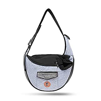 Zuukoo Pet Carrier, Dog Sling Bag Puppy Hands-free Sling Travel Carrier Bag with Adjustable Strap For Small Pets Perfect for Walking, Traveling or Daily Use 20