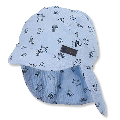 Sterntaler Baby - Jungen Schirmmütze mit Nackenschutz, Blau, Gr. 47