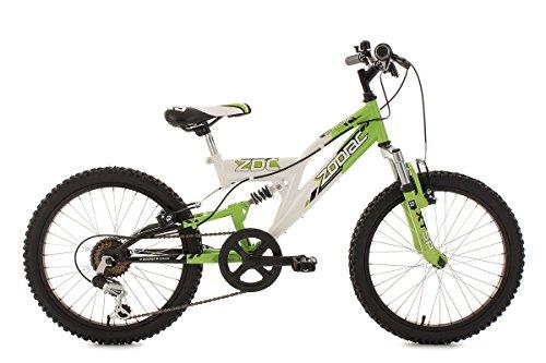 """KS Cycling Kinderfahrrad Mountainbike Fully 20"""" Zodiac grün-weiß RH31cm"""