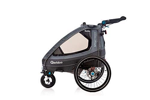 Qeridoo Sportrex2 Limited Edition 2020 - Remolque infantil con suspensión para bicicleta eléctrica