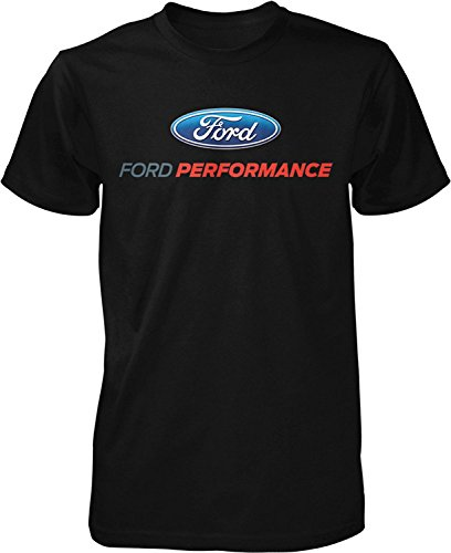 Ford Performance T-Shirt Mustang GT ST Racing (Front Print), Black, XL