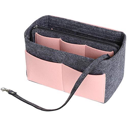 SHINGONE Filz Taschenorganizer Handtasche für Damen Taschen Organizer mit Reißverschluss,...