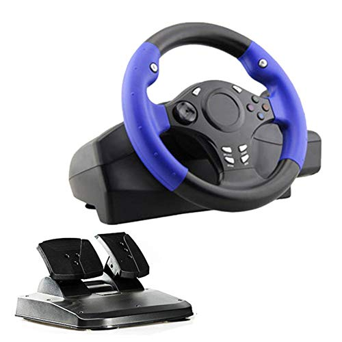 Racing Wheel with Responsive Gear and Pedals for PS4/PS3/PC/XBOX-ONE/XBOX-360/Switch/Android, 270° Racing Game Steering Wheel Driving Gaming Accessories