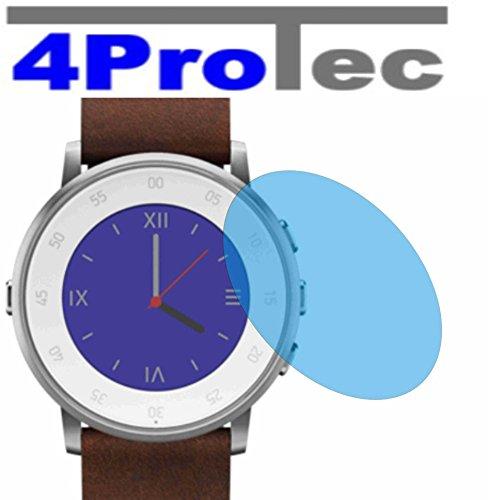 4ProTec I 2X Crystal Clear klar Schutzfolie für Pebble Time Round Premium Displayschutzfolie Bildschirmschutzfolie Schutzhülle Displayschutz Displayfolie Folie
