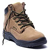 EVER BOOTS'Ultra Dry' Men's Premium Leather Waterproof Work Boots Insulated Rubber Outsole