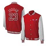 Michael Jordan - Chaqueta de baloncesto para hombre, diseño de Chicago Bulls 23 # Red Basketball Jerseys Baseball Shirt, manga larga retro baloncesto sudadera (S-XXXL)