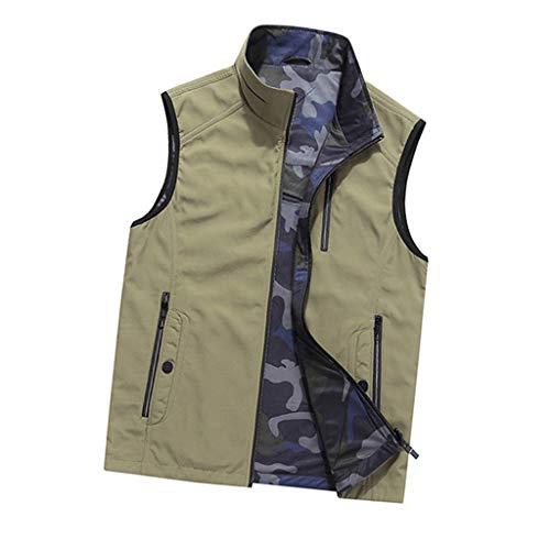 THBEIBEI herenjack, voor- en achterkant, ademend, met meerdere zakken, voor visserij, kamperen, vissen, fotografie, jacht