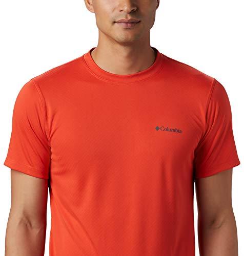 Columbia Zero Rules, Camiseta de manga corta, Hombre, Rojo (Wildfire), Talla L