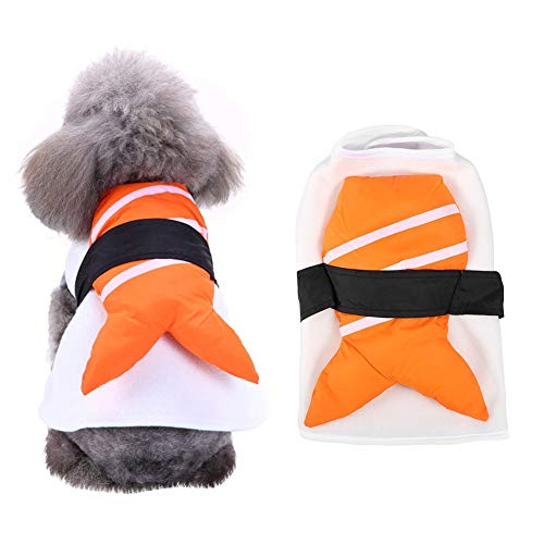 Kleding voor huisdieren, grappige cosplay feesten parades sushi chef kimono kleding outfit voor hond kat puppy (L)
