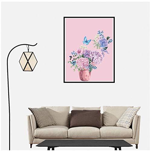 Moderne hortensia canvas schilderij poster foto Home Wall Art Decor-50x80cm geen frame