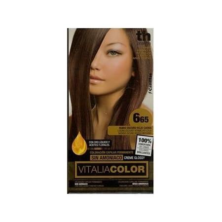 Th Pharma Th Vitalia Color Tinte Nº 665 Rubio Oscuro Rojo Caoba Sin Amoniaco 100 g