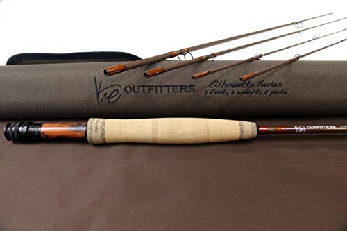 K&E Outfitters Silhouette Series Fly Fishing Rod (3 Weight)