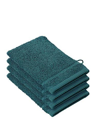 De Witte Lietaer 194695 Stephanie, Guante de baño, 100% algodón, Verde, 15 x 22 x 1 cm, pack de 4