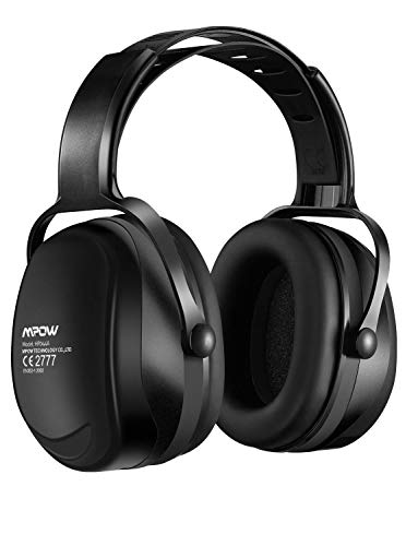 Mpow 044 Casque antibruit Réglable, Casques Anti-Bruit NRR 29dB/SNR 36dB avec Sac de transport, Cache-oreilles à protection auditive Réglable de Réduction du Bruit pour Soudage, chantier