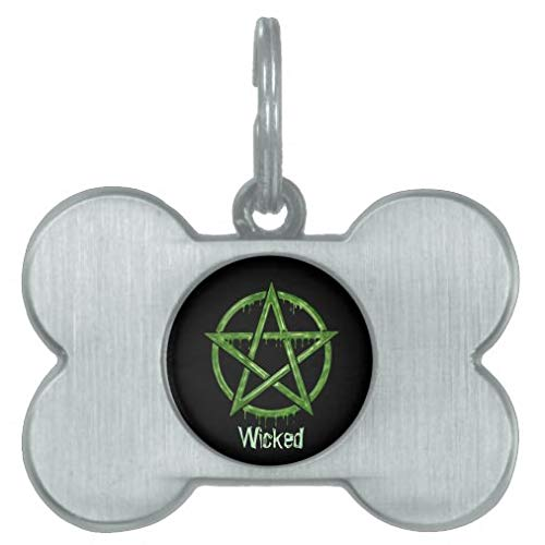 Personalized Pet Tags for Dogs and Cats,Custom Pet ID Tags, Wiccan Pet Green Personalized Pet Id Tag Pet Gifts - Bone Stainless Steel