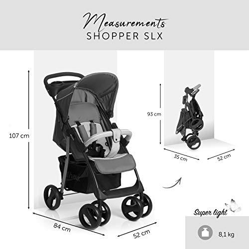 Hauck Shopper SLX Trio Set - Silla de paseo, 3 piezas de capazo, sillita y grupo 0+, Negro/Gris