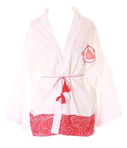 KJ-06-2 Wit Japan gelukskat Haori over-jas Geisha Kimono Yukata Harajuku Kawaii