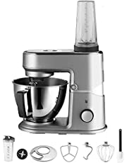 WMF Küchenminis Edition Mini-keukenmachine, ruimtebesparend, mixer voor smoothies, 3 l kom, softstart, planeetroerwerk, 8-traps kneedmachine, 3 roergereedschappen, 430 W, roestvrij staal mat
