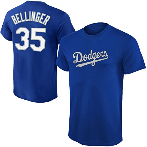 Outerstuff MLB Youth Performance Team Color Player Name and Number Jersey T-Shirt (Medium 10/12, Cody Bellinger)
