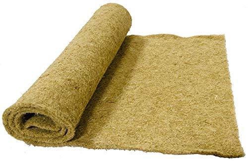 Nager-Teppich aus 100 % Hanf, Meterware, 0,50 m x 25,00 m x 0,5 cm dick (EUR 4,22/m²), Nagermatte geeignet als Käfig Bodenbedeckung z.B. für Kaninchen, Meerschweinchen, Hamster, Degus, Ratten und andere Nagetiere.