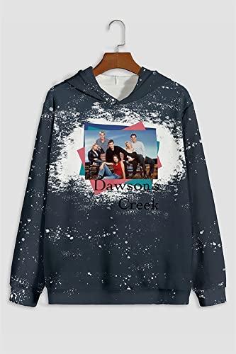 Casual Pullover Hombres sudadera con capucha de manga larga del teñido anudado de la camiseta de la tapa del suéter Impreso (Color : 21083107, Size : XXXX-Large)