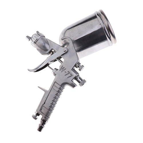 F Fityle Druckluftpistole Druckluft Farbspritzpistole Farbsprühsystem Lackierpistole Spritzpistole Sprühpistole Wandfarbe - Silber 2.5mm