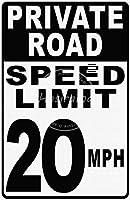 Speed Limit 20 Mph ティンサイン ポスター ン サイン プレート ブリキ看板 ホーム バーために