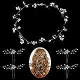 50cm Nupcial Tocado Diademas de Pelo, GuKKK 4 Piezas Horquillas para el Pelo, Perlas de Diamantes Horquillas, Pinzas para el Cabello en Forma de U, Accesorios para el Pelo de Fiesta de Bodas Nupcial