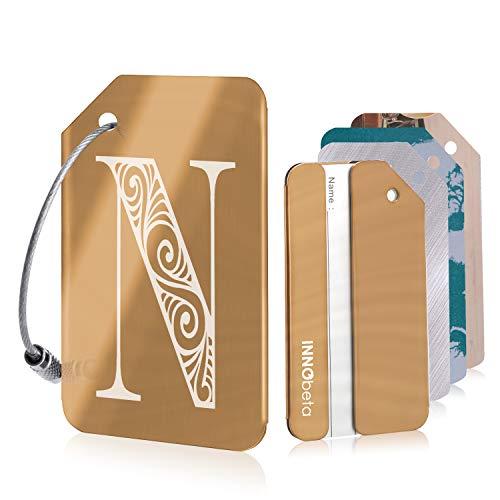 Kofferanhänger mit Namensschild Adressschild,Anfängliches Design Gepäckanhänger aus...