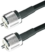 US Made PL259 UHF Male Jumper - Andrew Commscope CNT-240 Coaxial Cable   Ham or CB Radio Antenna Coax UHF VHF HF Antenna RF Transmission Line PL-259 Connector LMR240 (5-feet)