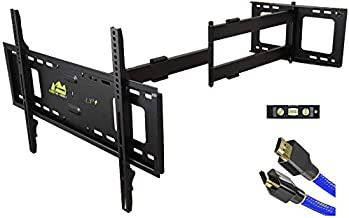 FORGING MOUNT Long Extension TV Mount Full Motion Wall Bracket with 42 inch Long Arm Articulating TV Wall Mount for 37 to 80 Inch Flat/Curve TVs, VESA 600x400mm Compatible, Holds up to 100 lbs
