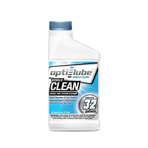 Opti-Lube Single Clean Diesel Fuel System/Injector Cleaner: 1 8oz Bottle Treats up to 32 Gallons