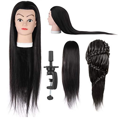 Pruik hoofd, kappers oefenpop oefenpop pop training Styling kleuren oefenen Pruik dummy mannequin hoofd met haar voor vlechten oefenen.
