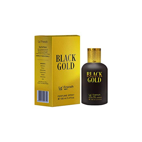 LA' French BLACK GOLD Perfume Long Lasting Classic Fragrance, Eau De Parfum 100ml, Ideal for Men