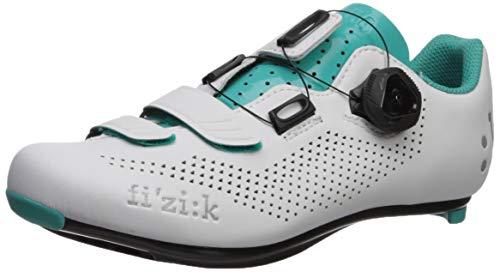 fizik Damen R4 Donna BOA Rennradschuhe, weiß/smaragdgrün, Größe 42 weiß/smaragdgrün