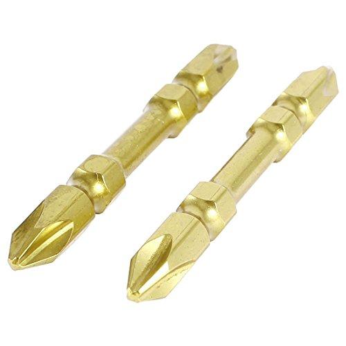2 Stks 65mm Dubbel Einde Magnetische Tip 6.5mm PH2 Phillips Schroevendraaier Bits