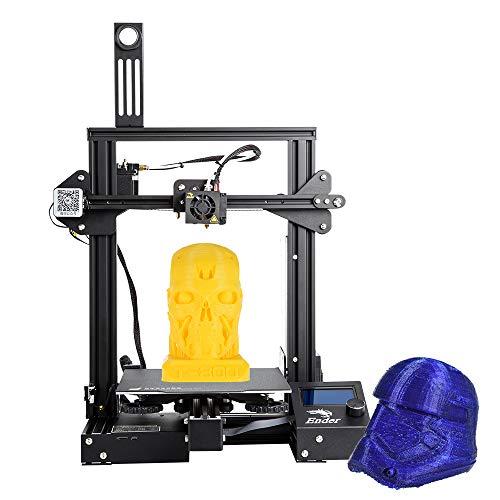 Creality 3D Ender-3 Pro Stampante 3D ad alta precisione Kit FAI DA TE MK-10 Estrusore con funzione di stampa Resume Heatbed Supporto 220 * 220 * 250mm Formato di stampa per uso domestico e scolastico