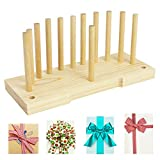 Lzttyee Bow Maker for Ribbon Wreaths, Double Sided Wooden Bow Making Tool for Crafts Hair Bow Makers Decoration for DIY Christmas Holiday Gift