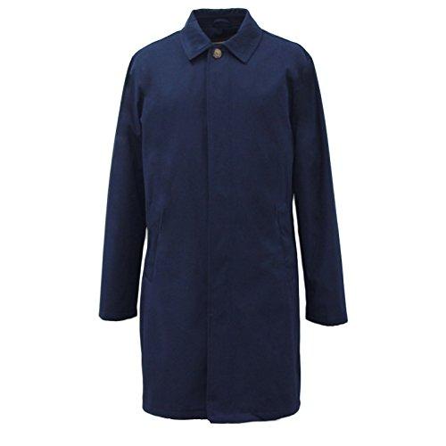 HARRY BROWN Men's Navy Teflon Coated Detachable Lining Raincoat XL