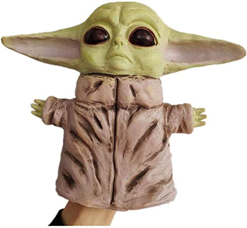 Feeyond Yoda Bebé Marioneta De Mano Decoración Muñeca Látex Máscara Mascarada Máscara Yoda Tesoro Marioneta De Mano