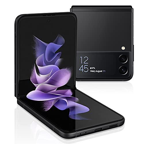Samsung Galaxy Z Flip 3 5G Factory Unlocked Android Cell Phone US Version Smartphone Flex Mode Intuitive Camera Compact 128GB Storage US Warranty, Phantom Black